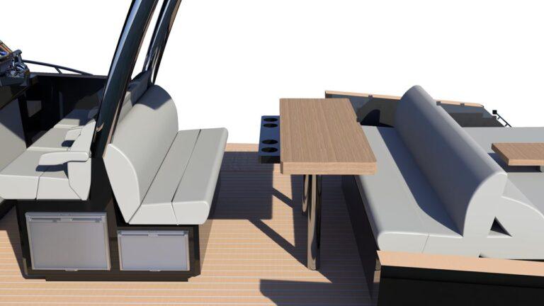 yacht cockpit table