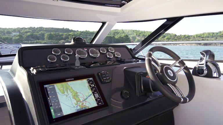 boat dashboard, boat navigation instruments