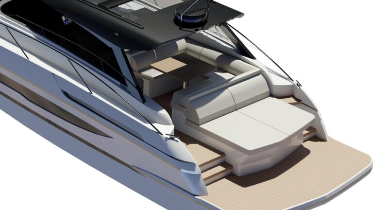 new yacht design, 3d render