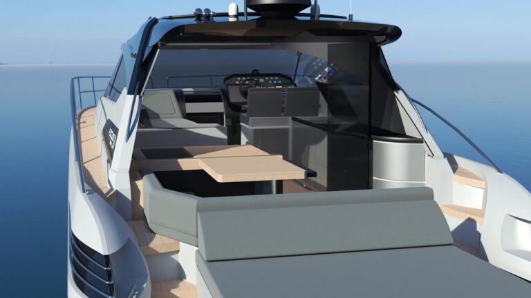 sunbed on boat