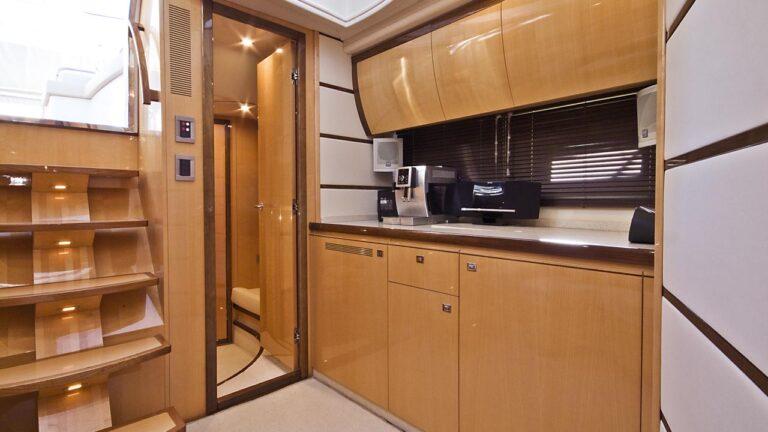 saloon inside yacht