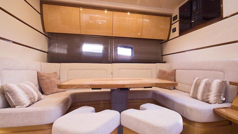 Saloon on boat